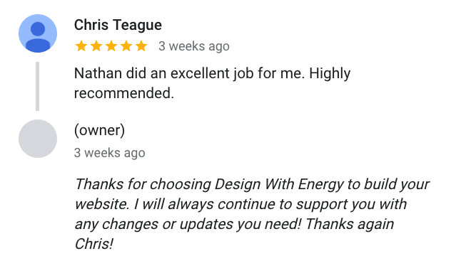 Chris Teague said ... Nathan did an excellent job for me. Highly recommended.